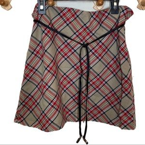 Vintage Y2K Xhilaration plaid preppy mini skirt